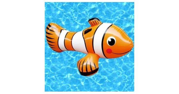 Amazon.com: Pez payaso inflable piscina Ride On Toy: Toys ...