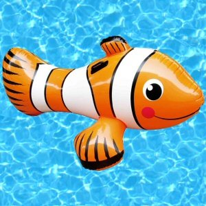 Inflatable Clown Fish Ride On Pool Toy (Inflatable Clown)