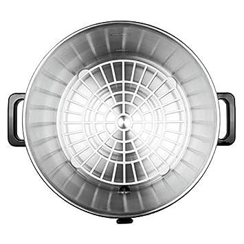 Klarstein Biggie Olla eléctrica Pasteurizadora • Dispensador de bebidas • Conservadora • 27 Litros • 2000 W • Temperatura regulable • Temporizador • Acero ...