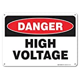 High Voltage Sign, Large 10x7