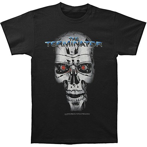 The Terminator Cyborg Skull Adult Licensed T-shirt- S to XXL