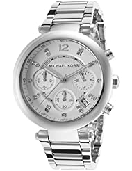 Michael Kors MK5275 Womens Glitz Rare Silver Tone Stainless Steel Bracelet Chronograph Watch
