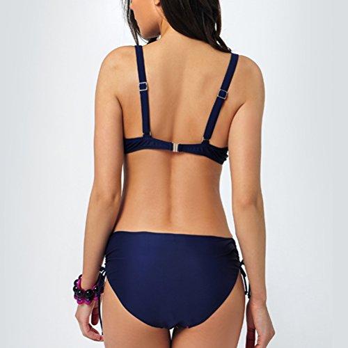 Zhhlaixing Classic Women's Plus Size Bikini Sets Two Piece Fashion Printing Swimsuit Rose Red