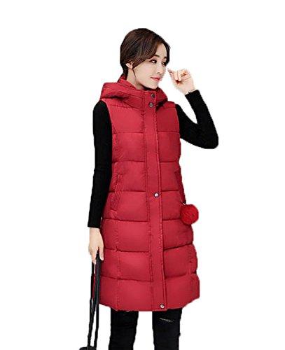 レンズ返済昨日アイビエツ(AIBIETU)レディース 厚手 ダウンベスト ノースリーブ ロング ベスト ファッション 中綿 ベスト 防風 防寒 秋冬