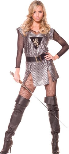 Lady Knight Adult Costume Size 6-8 Medium -