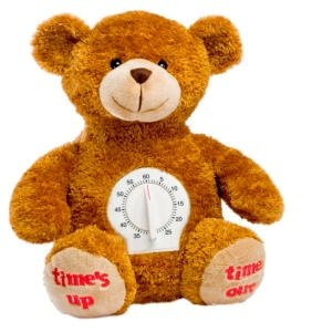 Genius Baby Toys Time Out Plush Bear with Timer