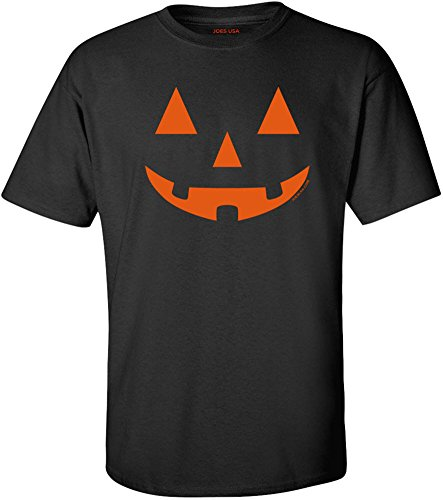 Jack O' Lantern Pumpkin Halloween Costume Tall Black T-Shirt-LT ()