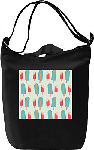 Ice Cream Print Borsa Giornaliera Canvas Canvas Day Bag| 100% Premium Cotton Canvas| DTG Printing|