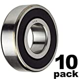 PGN - 608-2RS Sealed Ball Bearing - 8x22x7 - Lubricated - Chrome Steel (10 PCS)