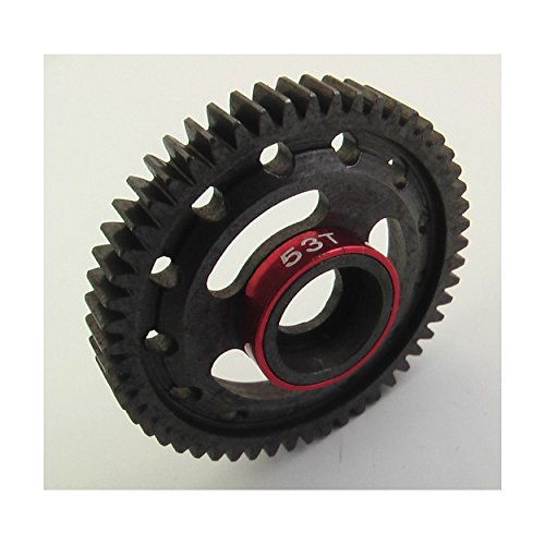 (Hot Racing SVXS853 Steel Spur Gear (53t)(Red) - 1/16 Traxxas)