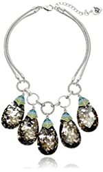 "Betsey Johnson ""Butterfly Effect"" Semiprecious Faceted Stone Necklace,17"" + 3"" extender"