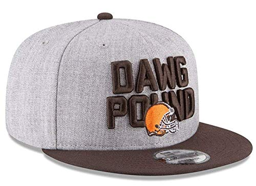 New Era Cleveland Browns Dawg Pound NFL Authentic Heather Gray Adjustable Snapback Hat : OSFM