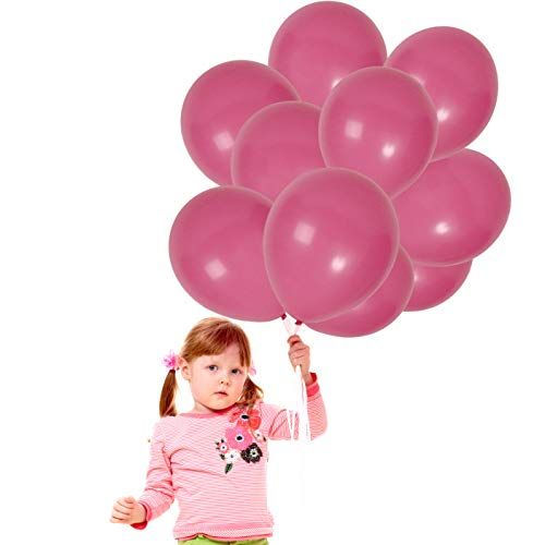 Treasures Gifted Magenta Peach Pink 12 Inch Matte Latex Balloons 72 Pack Birthday Decorations for Baby Girl Sweet 16 or Bridal Fiestas Tropical Rose Garland Kit Centerpieces Decor -