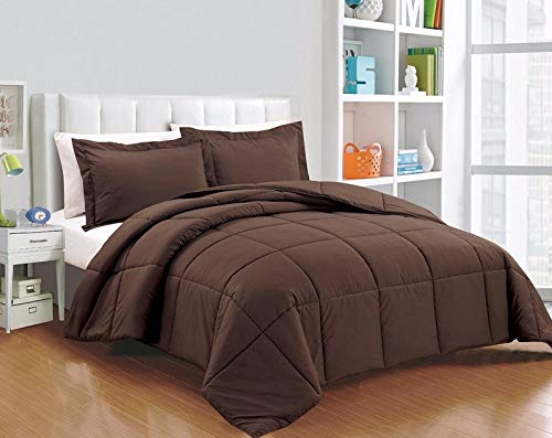 (Riviera Collection Super Soft Down Alternative Comforter Set - 13 Colors (Chocolate, Oversized King))