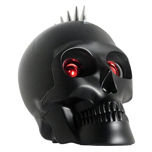Metallic Wireless Bluetooth Skull Speaker Party Speaker with Lights Laptop Computer Speaker LED Light Show Dancing Speaker (Misty (Skull Laptop)