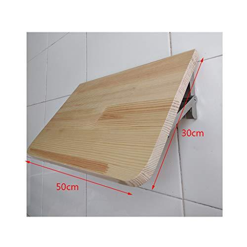 Fällbart bord massivt trä fällbart bord, vägg dator skrivbord, kök matbord, platsbesparande hopfällbar, kan hängas i läsrum, sovrum, balkong etc.