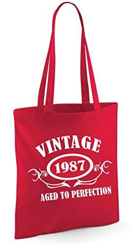 EN 1987 Rouge TOILE VINTAGE SAC 4qwd74