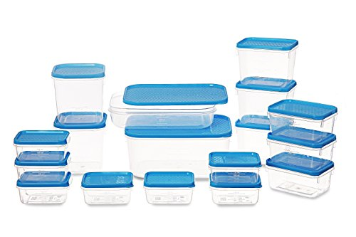 All Time Plastics Polka Container Set, 6.5 Litre, Set of 17, Blue.