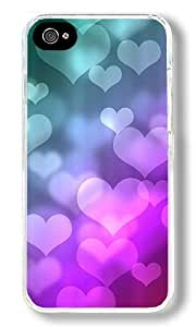 Colored Heart-shaped Background Image Custom ipod touch 5 ipod touch 5 Case Back Cover, Snap-on Shell Case Polycarbonate PC Plastic Hard Case Transparent