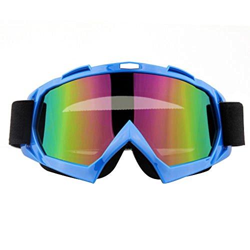 Lmeno Winter Radfahren Skibrille Bunt Linse Snowboardbrille Motorrad Motocross fahren GoggleBrille Anti Fog Winddicht Ski Goggles UV-Schutz Sonnenbrillen Augenschutzbrillen Rot/Blau/Schwarz/Grün/Gelb/ Blau CNgdOl0o