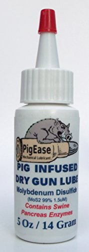Put a Pig On Your Projectile With Non Halal PigEase Dry Gun and Weapon Lubricant with Molybdenum Disulfide and Real Pig Enzymes