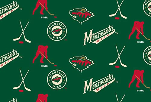 Minnesota Wild Fleece Blanket Fabric All Over Design-Sold by The Yard