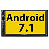 PUMPKIN Android 7.1 Car Stereo Radio Double Din with GPS, WiFi, Support Fastboot, Backup Camera, Android Auto, AUX, 7 Inch Touchscreen