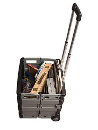 Austin Supply Roller Crate 2 16x16.5x14.5u0026quot;   Black And Silver