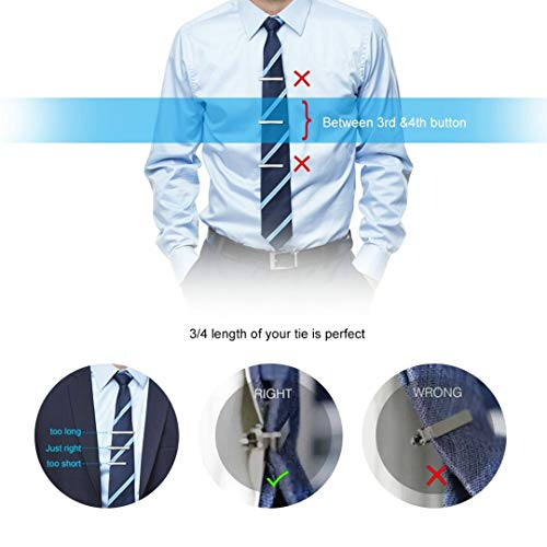 Mozeto - Juego de pinzas para corbata (4 piezas, para hombre, en ...