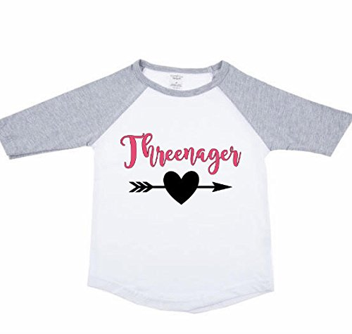 Amazon Threenager Birthday Shirt Baseball Tee Personalized Customized Girl Handmade