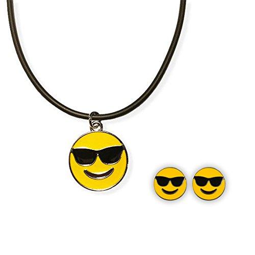 Amazon.com: Emoji cuerda collar y arete Stud – Gafas de sol ...