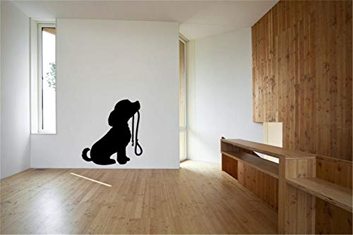 ing Lettering Sticker Wall Decoration Art Cute cat Wall Sticker Puppy Dog and Leash for Living Room Bedroom Nursery Kids Room ()