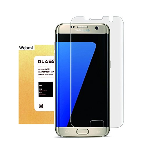 For Galaxy S7 Edge Tempered Glass Screen Protector,Webmi 9H Slim Anti-Fingerprint Oil Stain Scratch Coating Bubble Free Easy Install HD Clear Screen Protector for Samsung Galaxy S7 EDGE