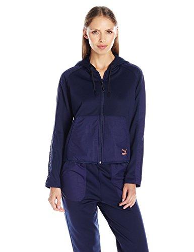 PUMA Women's Evo T7 Full Zip Hoodie, Peacoat, X-Large - 08 Zip Hoodie Sweatshirt