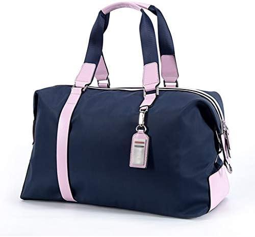 多機能ポータブルゴルフの服バッグユニセックス大容量軽量トラベルバッグ ナイロン素材ブラック、ブルー、ピンク HMMSP (Color : Blue)