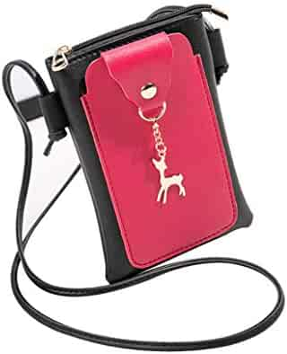 e3c03fd692 Yihaojia Leather Fashion Patchwork Deer Cover Crossbody Bag Shoulder Bag  Phone Coin Bag for Women (