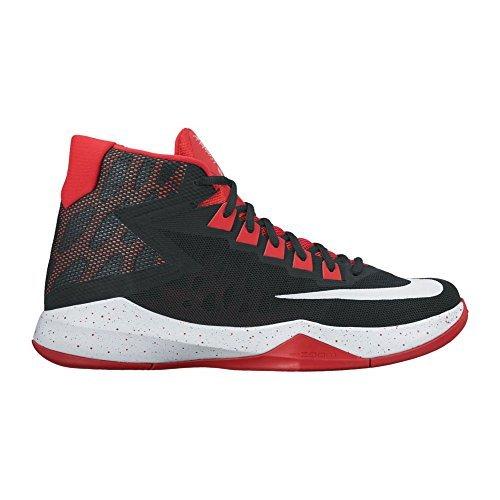 NIKE Men's Zoom Devosion Basketball Shoe (11, Black/White/University Red)