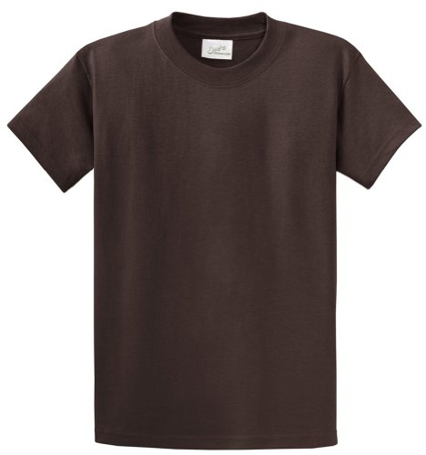 Joe's USA(tm - Youth Heavyweight Cotton Short Sleeve T-Shirt in Size S Dark Chocolate Brown