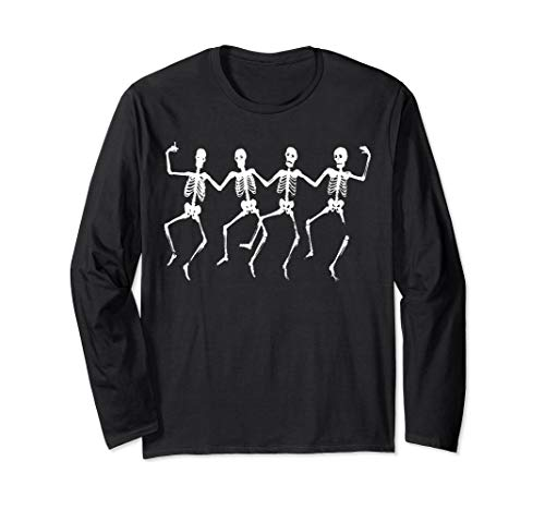 - Skeleton Chorus Line from the Crypt Graphic T-shirt