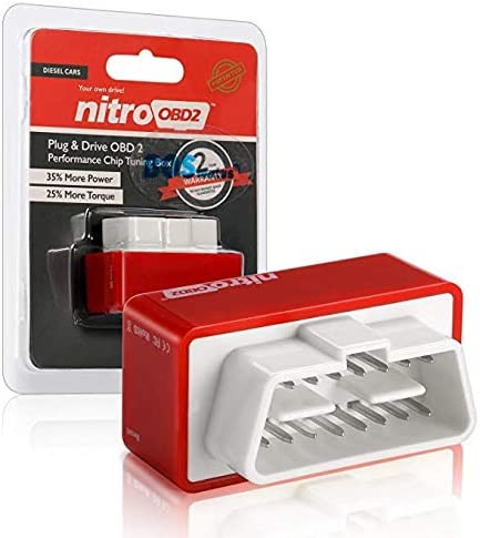 Nitro Plug Obd2 Obd2 Diesel Chip Tuning Box Offers 35 More Hp And 25 More Torque For Your Diesel Car And Truck Plug Drive Obd Ii Performance Tuning Chip Adapter Red