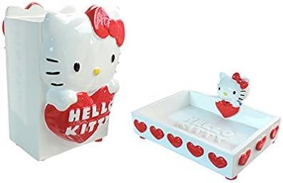 Accessori Bagno Hello Kitty.Set Accessori Bagno Hello Kitty Serie Classic Portaspazzolini E Portasapone Amazon It Casa E Cucina