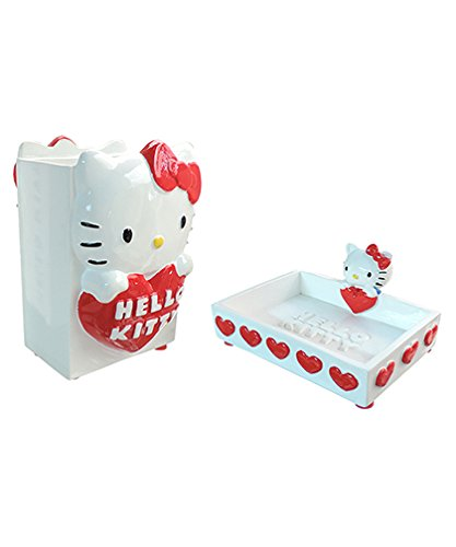 Hello Kitty Accessori Bagno.Set Accessori Bagno Hello Kitty Serie Classic