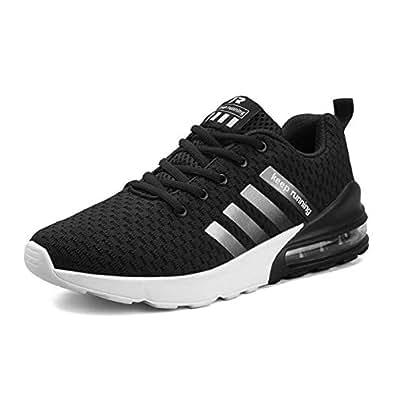 DUORO Respirable Zapatillas de Deporte Hombres Zapatos para Hombre Aire Libre y Deporte Running Zapatos, Color Negro, Talla 39 EU