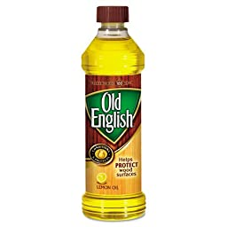 OLD ENGLISH Furniture Polish, Lemon Scent, Liquid, 16 oz Bottle - six bottles.