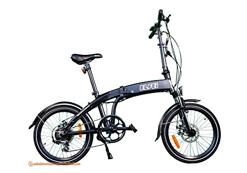 ELFEi Compact Elektro-Klapprad City-Klapprad E Bike E-Bike Eletrofahrrad Pedelec mit 250 W Hinterradmotor Lithium Ionen Akku 36 Volt, 10,2 Ah 367 WH
