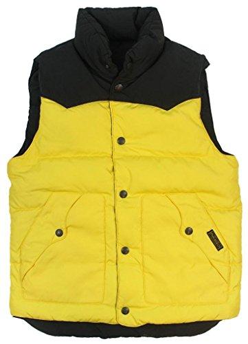 Polo Ralph Lauren Mens Reversible Down Filled Puffer Vest - S - Black/Yellow