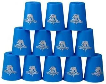 Cubelelo YJ Stacking Cups Cardboard Box (Blue) Quick Stacks Cups, Rapid Sport Stacking Cups Speed Training Set of 12
