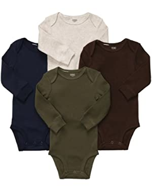 Carter's Baby Boy's 4-Pack Long Sleeve Bodysuits