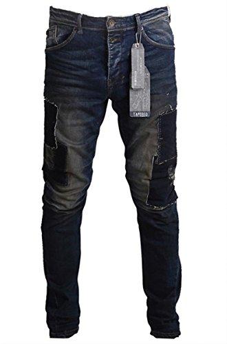 Garcia T61313-2107 LORENZ Herren Tapered-Jeans Dirty Destroy: Weite: W33 | Länge: L34