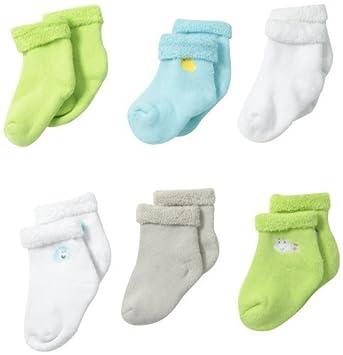 Gerber Unisex-Baby recién nacido 6 Pack Calcetines de variedad ...